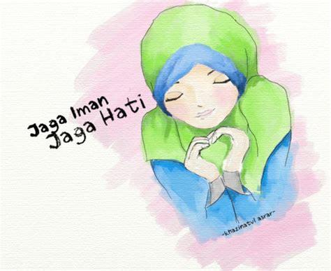 gambar kartun muslimah  keren  cantik animasi
