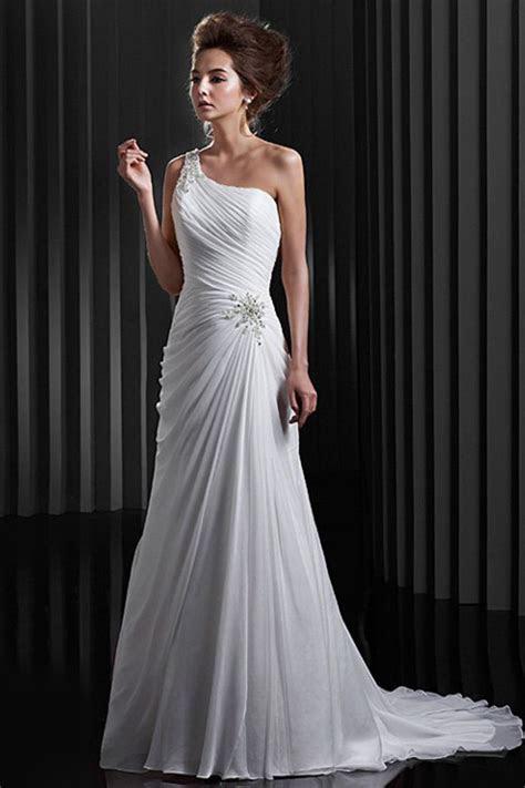 478 best images about One Shoulder Strap Wedding Dress