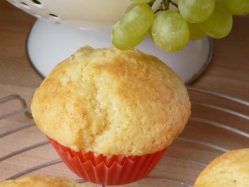 Muffins mit Weintrauben