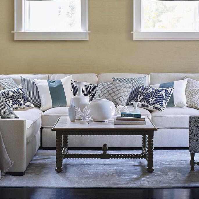 Sawyer Linen 2-pc. Sofa/Loveseat Sectional