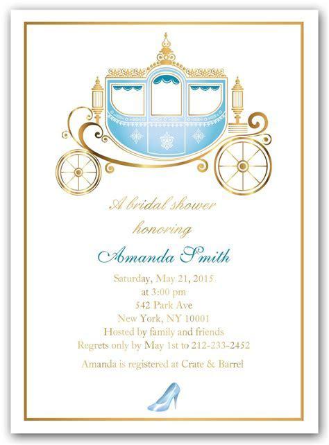 """Cinderella Shower"" Bridal Shower Invitations   Bridal"