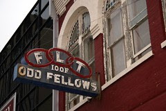 another angle on odd fellows neon sign