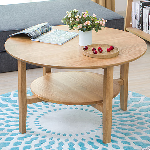 Yidai home round coffee table coffee table modern minimalist wood coffee table storage coffee ...