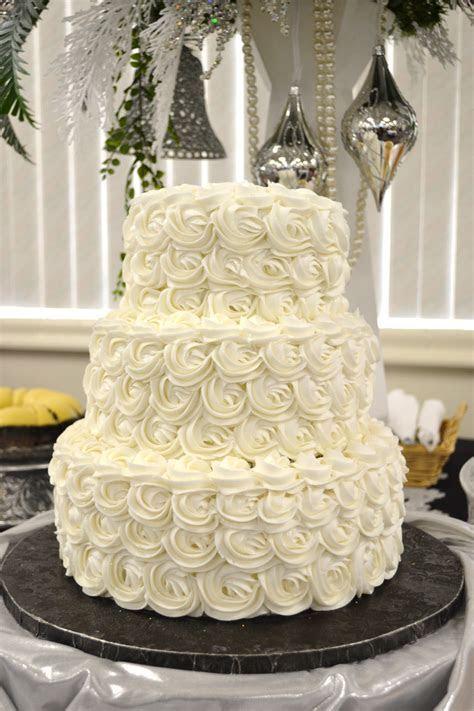 Three tier rose wedding cake design   Cake Designs
