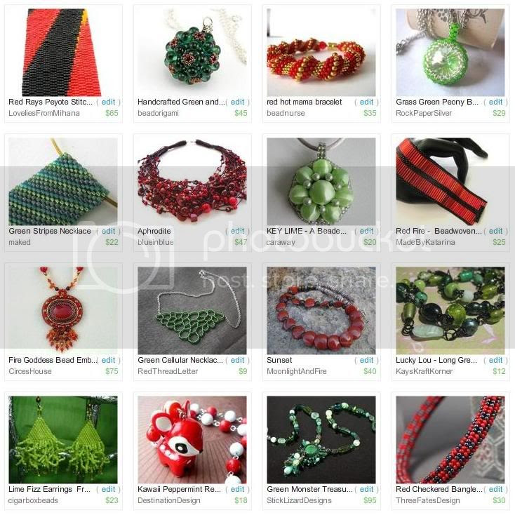 Etsy Picks: Red and Green Jewelry