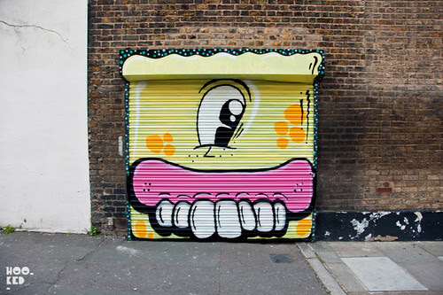 Street Art collaborative piece from Sweet Toof and Nylon.
