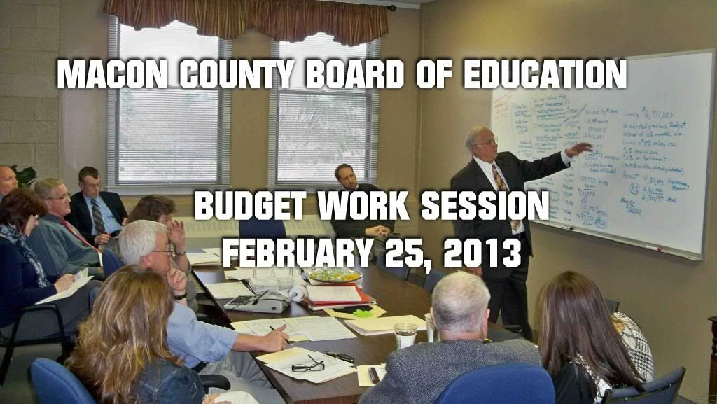 Board of Education Budget Work Session