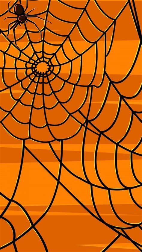 halloween orange spiders spider webs wallpaper