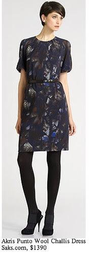 Saks.com - Akris Punto - Wool Challis Print Dress
