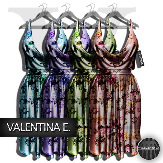 :V.e. Mesh Marilyn Dress Florals