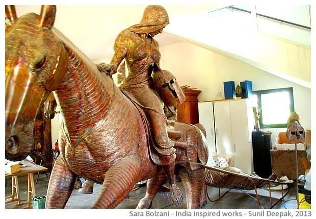 Sara Bolzani's India inspired sculptures - images by Sunil Deepak, 2013