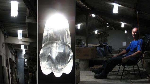 O mecânico brasileiro Alfredo Moser e suas invenções com garrafas plásticas pet