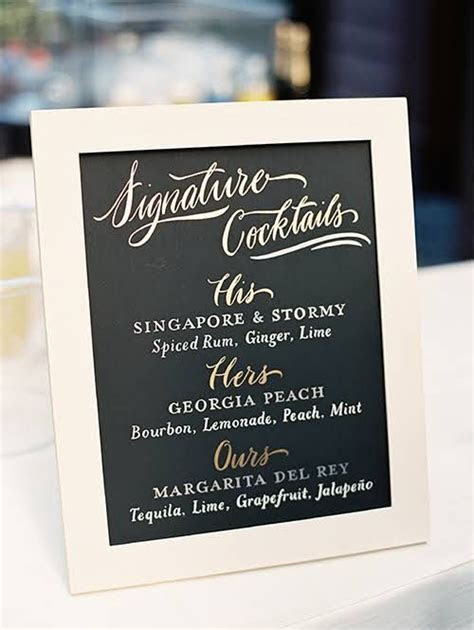 17 Best ideas about Wedding Signature Drinks on Pinterest