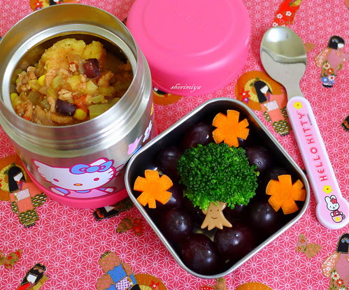 Chili Cornbread Bento by sherimiya ♥