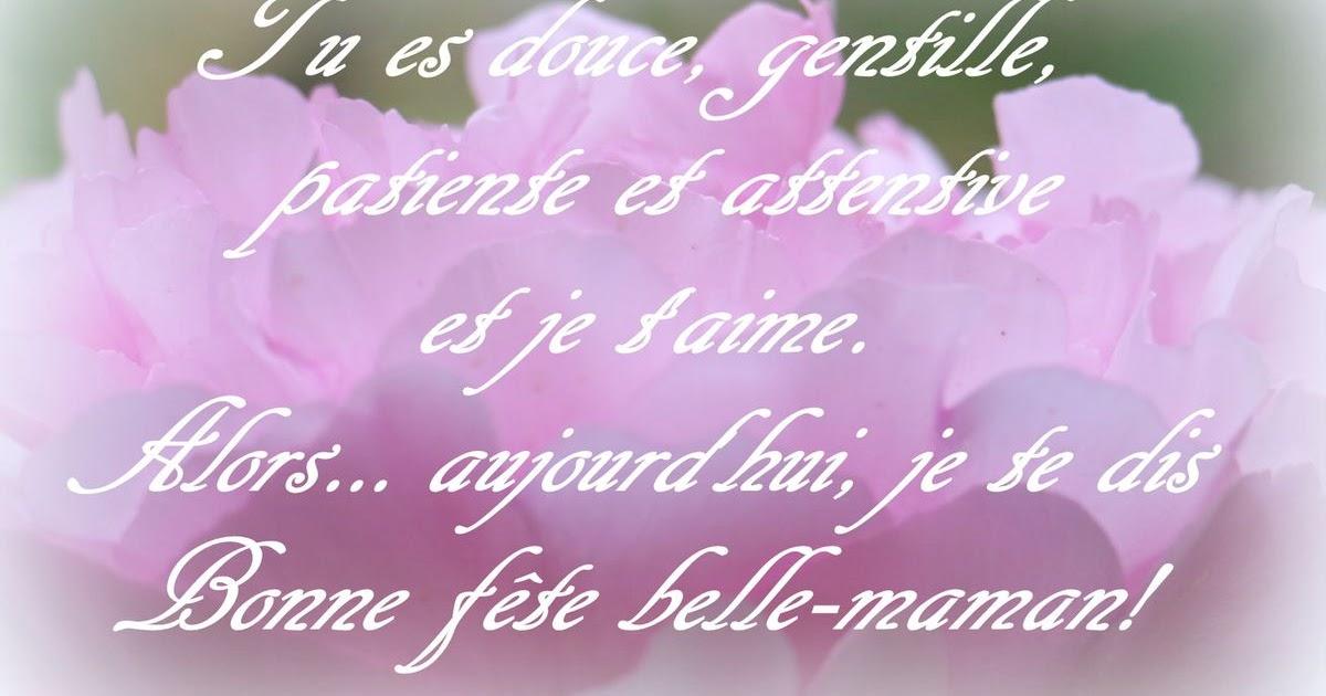 Poeme Joyeux Anniversaire Belle Mère Charlott