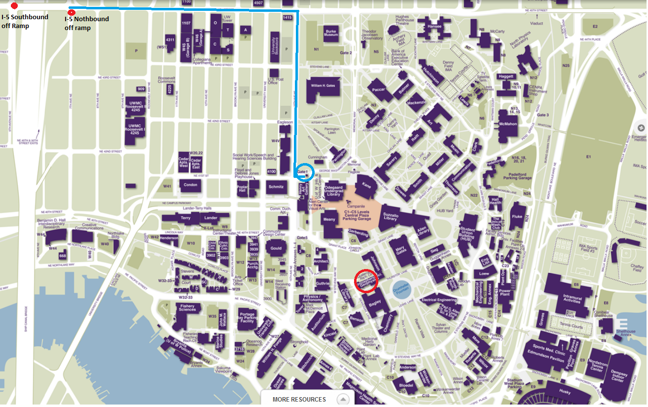 Campus Map Uw Uwmc Campus Map | World Map Gray