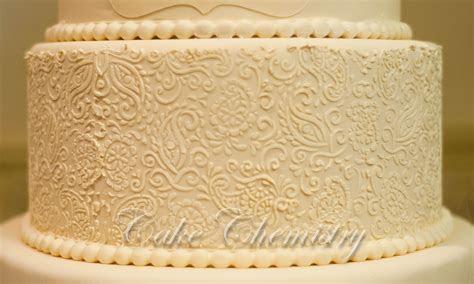 5 Tier Ivory Paisley Wedding Cake   CakeCentral.com