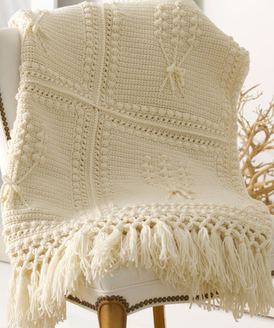 One of the Prettiest Aran Blankets We've Ever Seen!