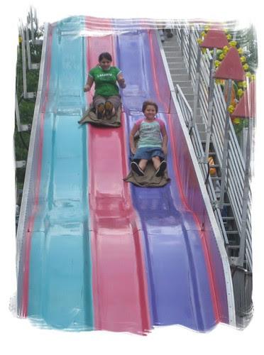 Framed Girls on Slide