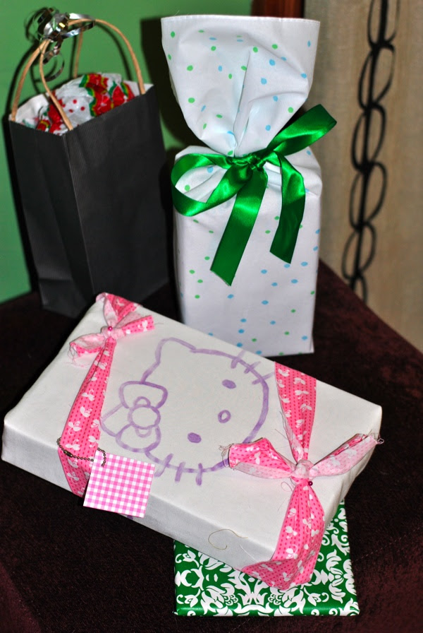 Painted Fabric Gift Wrap Hello Kitty T Shirt Craft Buds