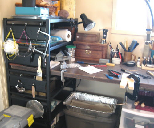 cutting and filing station