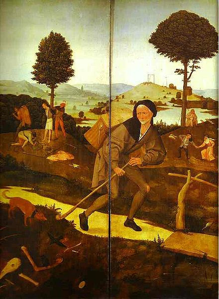 From the Haywain Triptych by Hieronymus Bosch