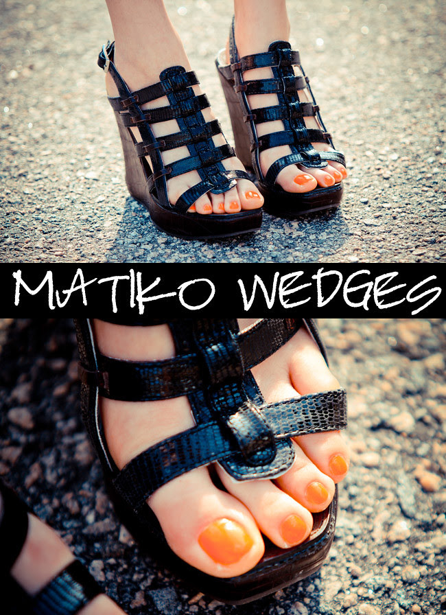 Sandals, Matiko Wedges, Fashion Shoes, Essie Orange nail polish