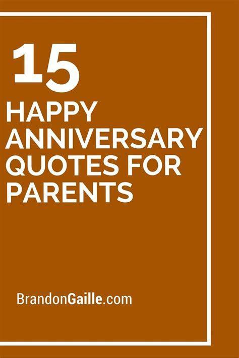 15 Happy Anniversary Quotes For Parents   Happy