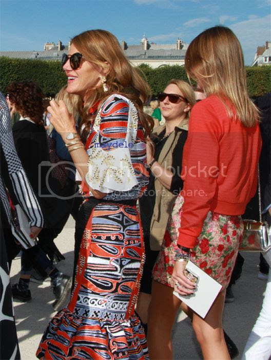 Anna dello Russo wearing Peter Pilotto