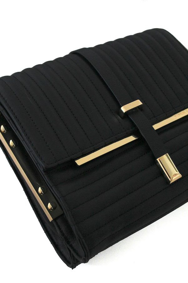 Le Fashion Blog Black And Gold Quilted Bag Black Budget Friendly Accessories Winter Style Vince Camuto Macys
