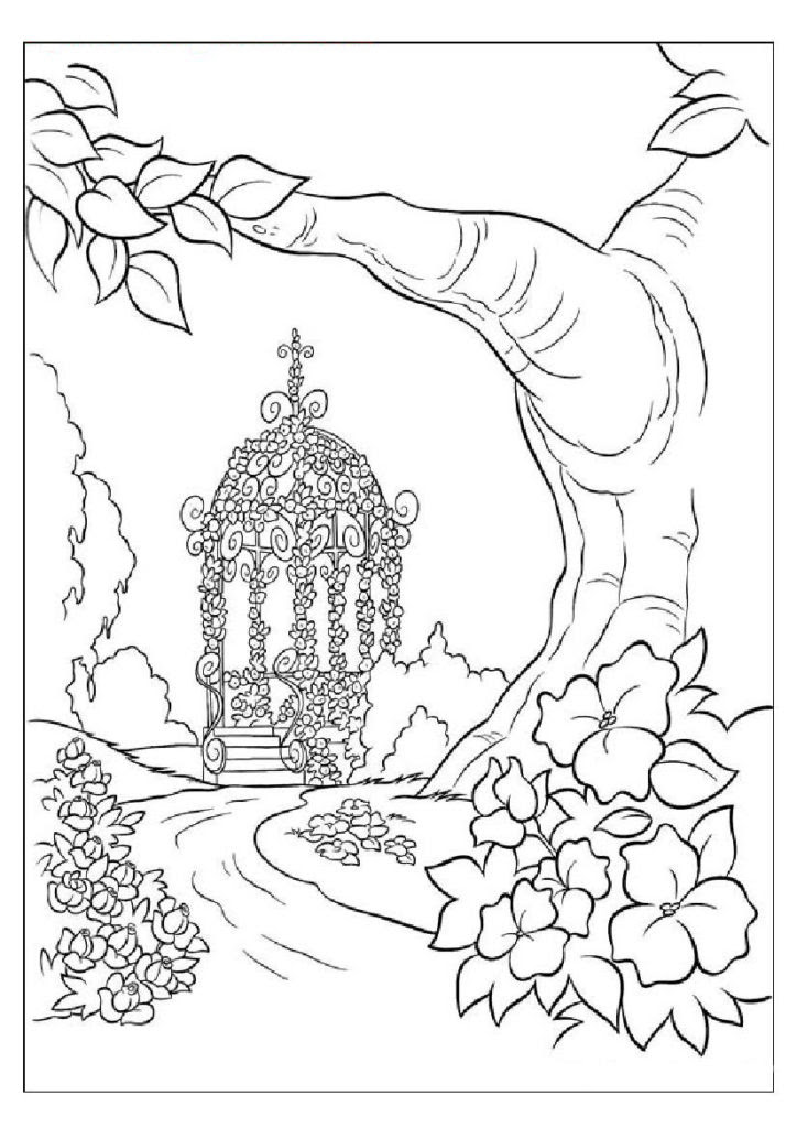 Printable Coloring Pages For Kids Nature Drawing With Crayons