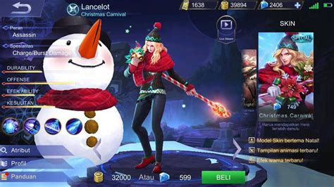 skin christmas carnival skin special lancelot mobile