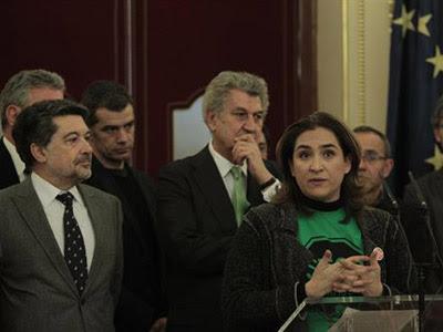 La portavoz de la PAH de Barcelona, Ada Colau, durante su comparecencia en el Congreso de los Diputados.