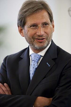 Austrian politician, minister Johannes Hahn (P...