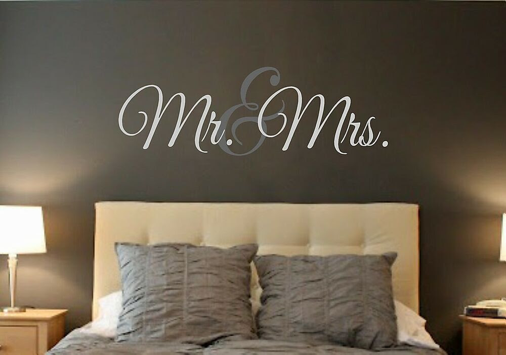 Mr. \u0026 Mrs.LARGEVinyl Wall DecalWall QuotesWords Wall