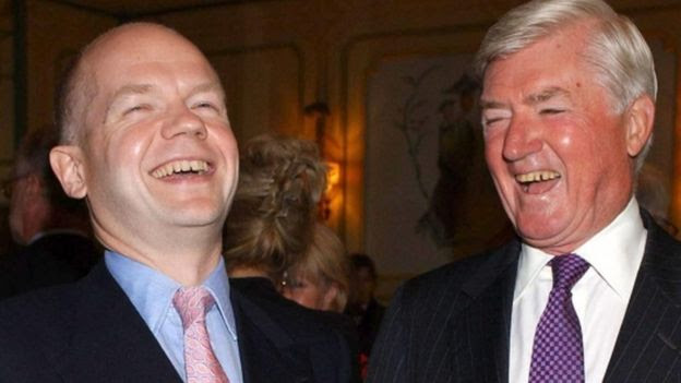 William Hague and Cecil Parkinson