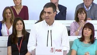 Pedro Sánchez al comitè federal del PSOE