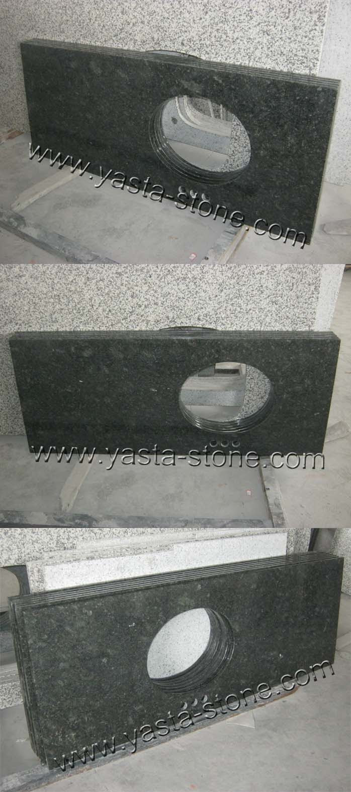 China Butterfly Green Granite Vanity Tops49 Inches Length