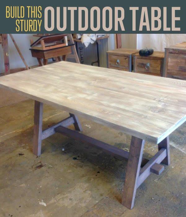 Build This DIY Multifunctional Outdoor Table DIY Ready   DIY ...