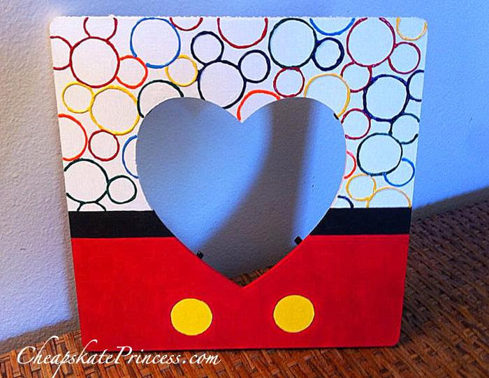 Make Your Own Disney Inspired Picture Frames For Super Cheap