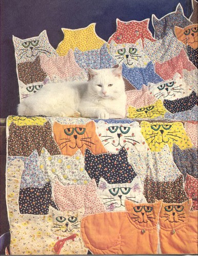 Calico Cats and Orange Toms Quilt