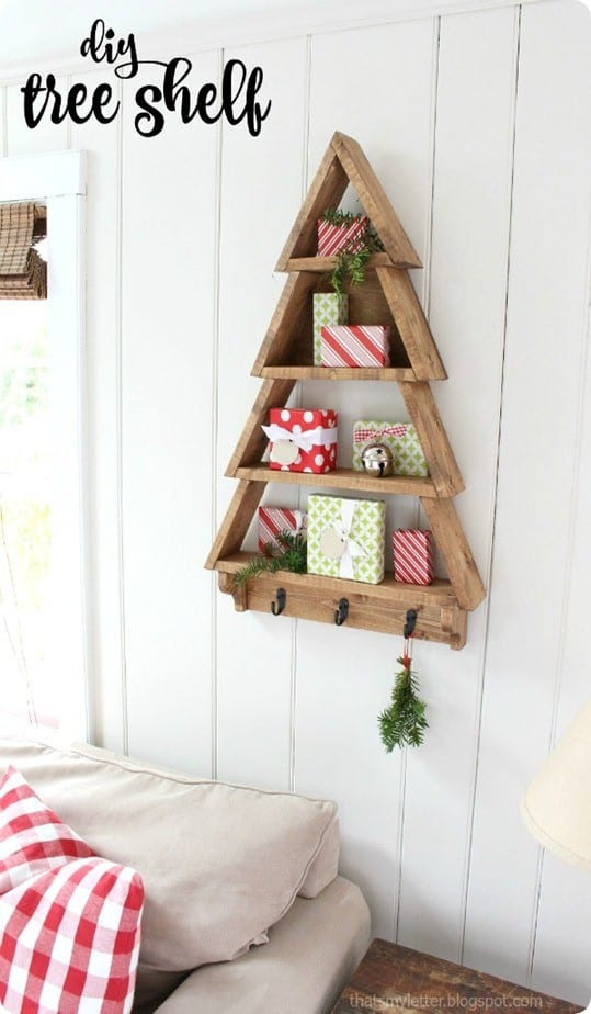DIY Tree Shelf via Knock Off Decor