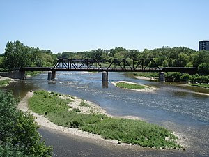 Grand River in Brantford, Ontario