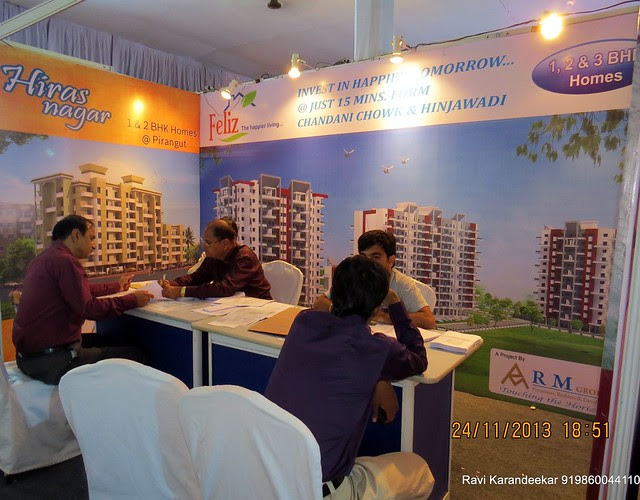 R M Group's (020 2553 0688 / 6521 6146) Hiras Nagar 1 BHK Flats & Feliz 1 BHK & 2 BHK Flat at Pirangut - Pune Property Exhibition, Times Property Expo 'Investment Festival 2013', 23rd & 24th November 2013