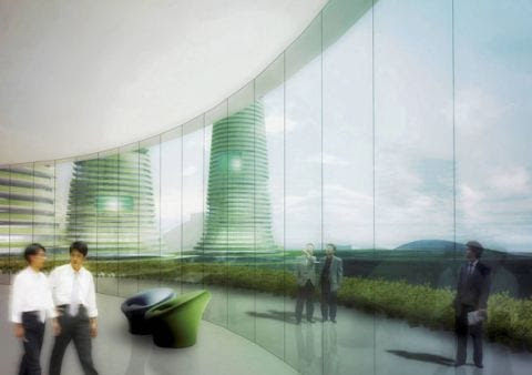 gwanggyo project competition won mvrdv architects5 Gwanggyo Power Centre, la ciudad ecológica