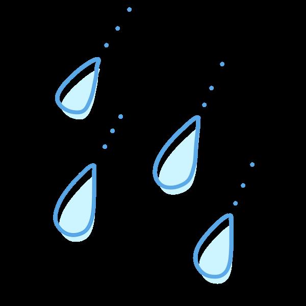 雨の雫のイラスト かわいいフリー素材が無料のイラストレイン