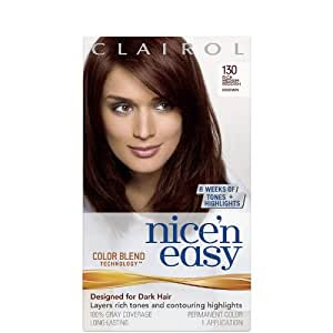 Amazon.com : Clairol Nice n Easy Hair Color  Medium Reddish Brown 130 : Chemical Hair Dyes