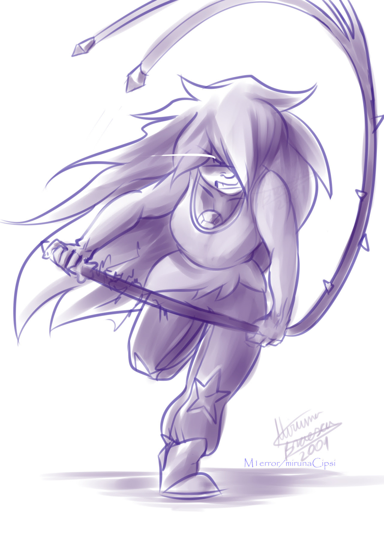 SO MUCH SU! I just love amethyst so much, I can't stop drawing her! I should be honest with you, I really hoped amethyst would kick the shit out of jasper after what she said…but I got a rather cool...