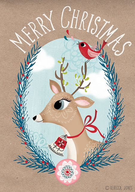 Happy Christmas to you! :: Rebecca Jones - Illustration
