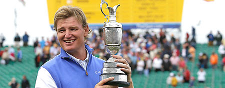 Ernie Els's improbable British Open victory was a boon for one bettor. (AP Photo)